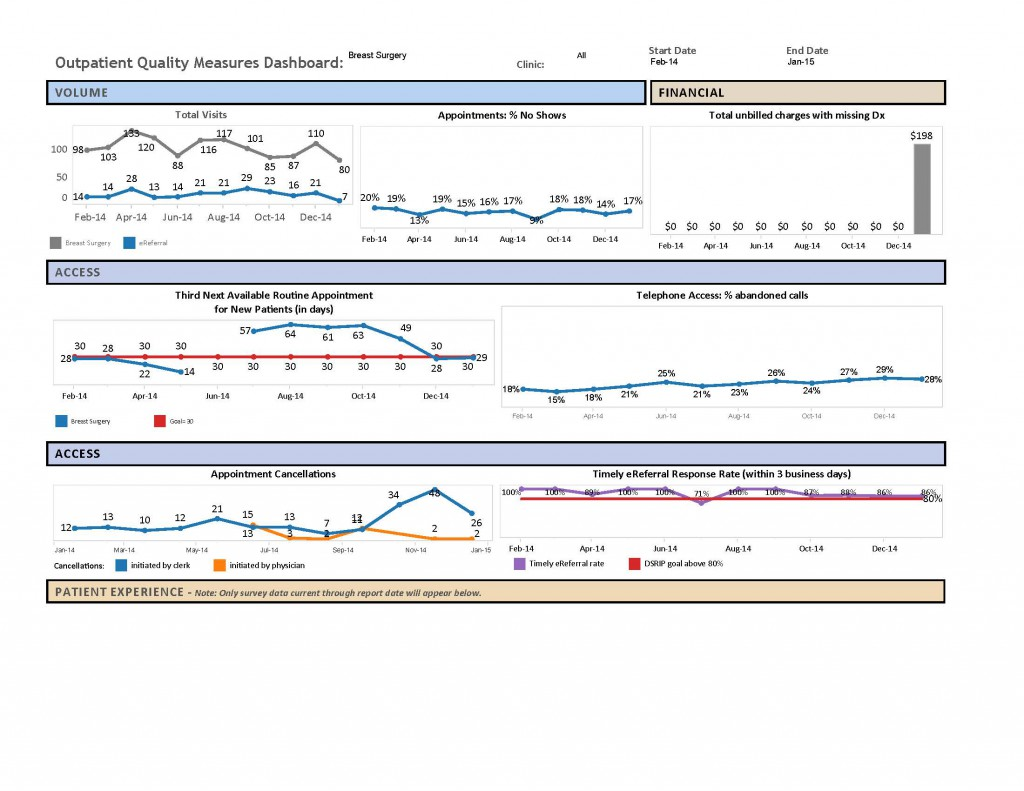 Breast Surgery Dashboard- Jan 2015
